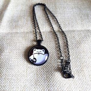 Cute chubby cat necklace